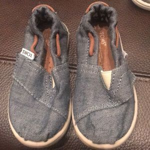 Toms Shoes - Pair of baby denim shoes. Toms. Worn an hour.